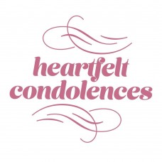 Couture Creations Peaceful Peonies Mini Stamp - Heartfelt Condolences (1pc)